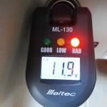 バッテリーチェッカー Meltec ML-130 : 車のバッテリー上がりを未然に防止